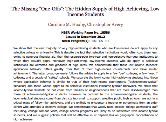 Missing One-Offs paper