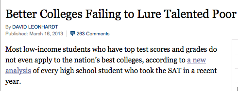NYT Better Colleges