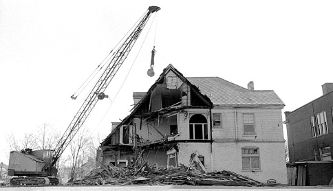 Demolition of Trinity Hall, AKA the George Alt House, 12-23-1967